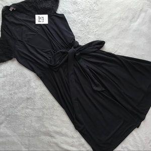 NWT Pip & Vine Maternity Nursing Wrap Dress Black